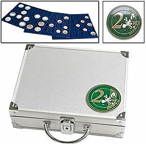 Alu-Münzkoffer für 2-Euro-Münzen: für alle 2 Euro-Münzen (Juguete)
