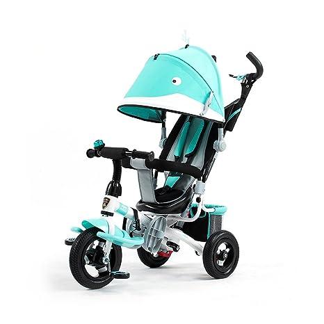 ZXC Triciclo de niños, Carrito Carrito de bebé Cochecito Bicicleta de bebé Bicicleta de tres