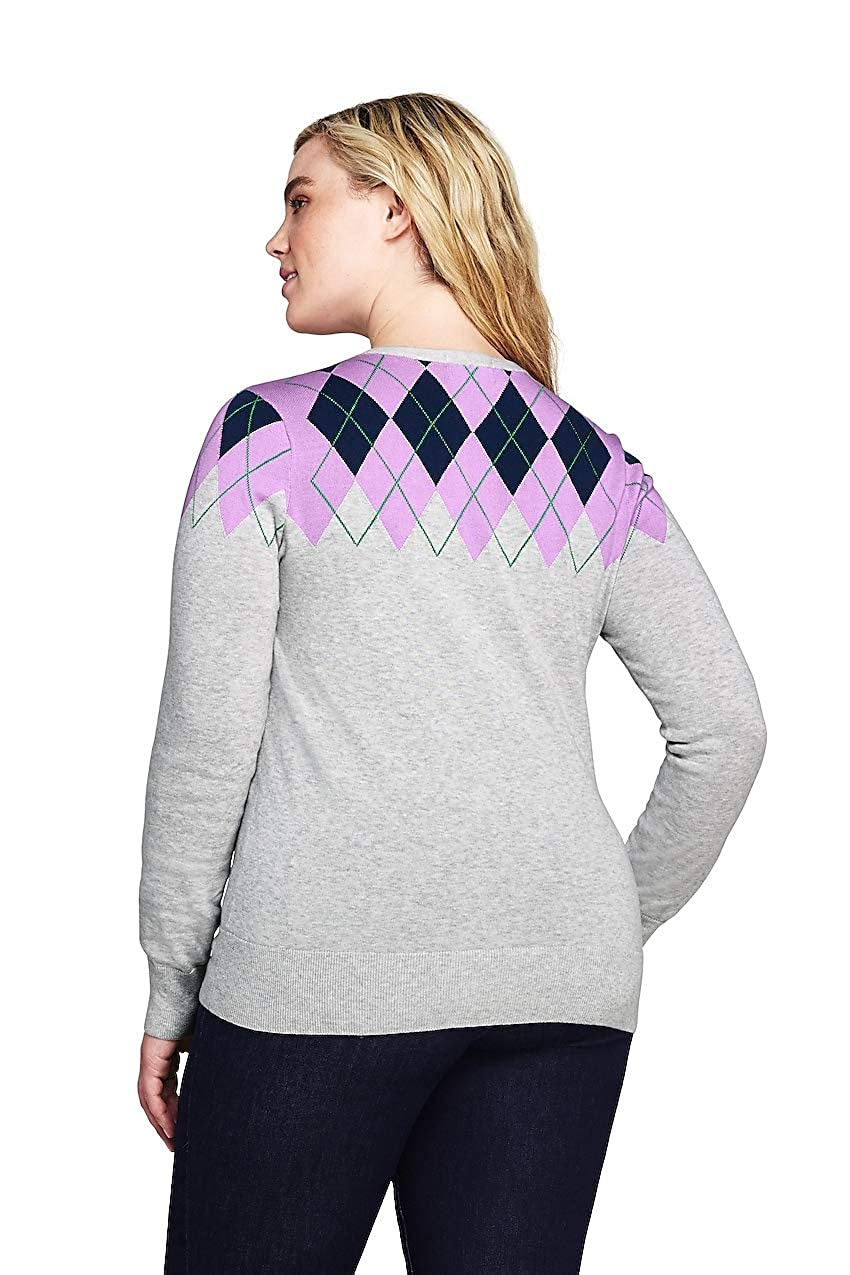Lands End Womens Plus Size Supima Cardigan Sweater