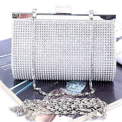 Parties And Clutches Women's Handbags Wedding Stylish Rhinestone Evening Silvery Color Bag Designer Gold Hand Rabbit Lovely Silver Prom Gold qHg688