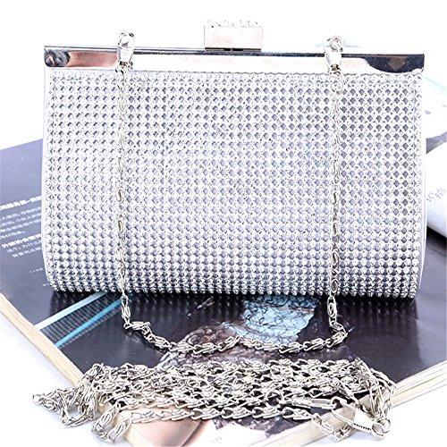 Silver Gold Rabbit partito sera Designer argento borse borsa di da elegante moda a Prom Lovely e Color sposa frizioni mano strass da oro qB1dnaxP
