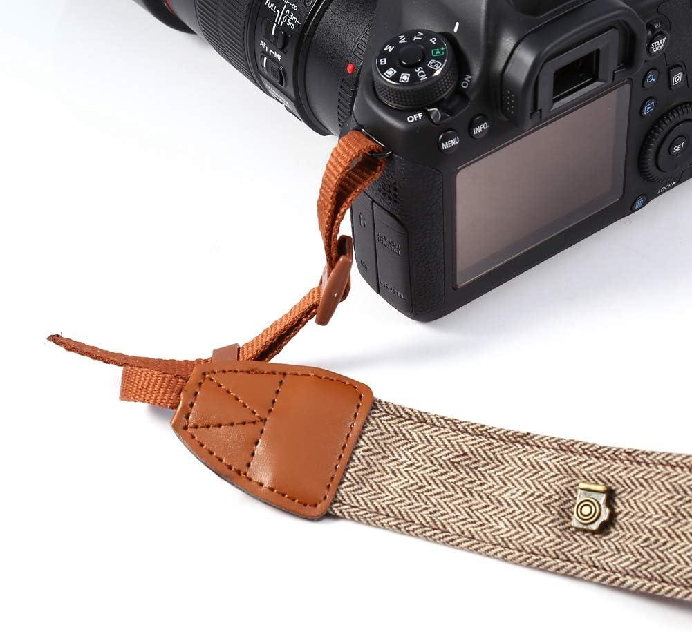 Vintage DSLR Camera Strap Neck Cotton PU Leather Material Brown V BESTLIFE 703.5cm Adjustable Camera Shoulder Strap Belt Anti-Slip Surface
