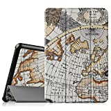 Fintie Samsung Galaxy Tab A 8.0 Smart Shell Case - Ultra Slim Lightweight Stand Cover with Auto Sleep/Wake Feature for Samsung Galaxy Tab A 8-Inch Tablet SM-T350, Map White