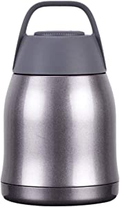 Thermal Flask/Soup Flask Stainless Steel Lunch Box Vacuum Insulated Food Jar/Lunch Box Thermal Food/Soup Container (Color : Silver)