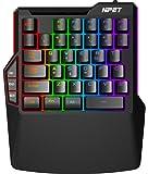 NPET T20 One-Handed Gaming Keyboard, RGB Backlit, Macro Keys, 38 Programmable Keys, Wrist Rest Support, Professional…