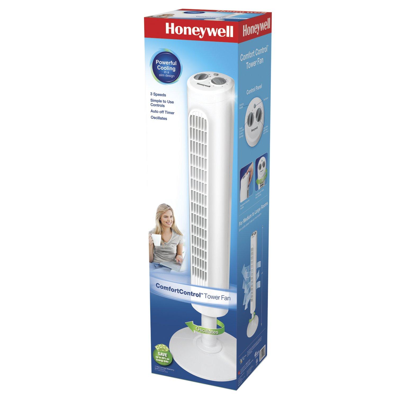 Amazon Com Honeywell Comfort Control Tower Fan Hyf013w Home Kitchen
