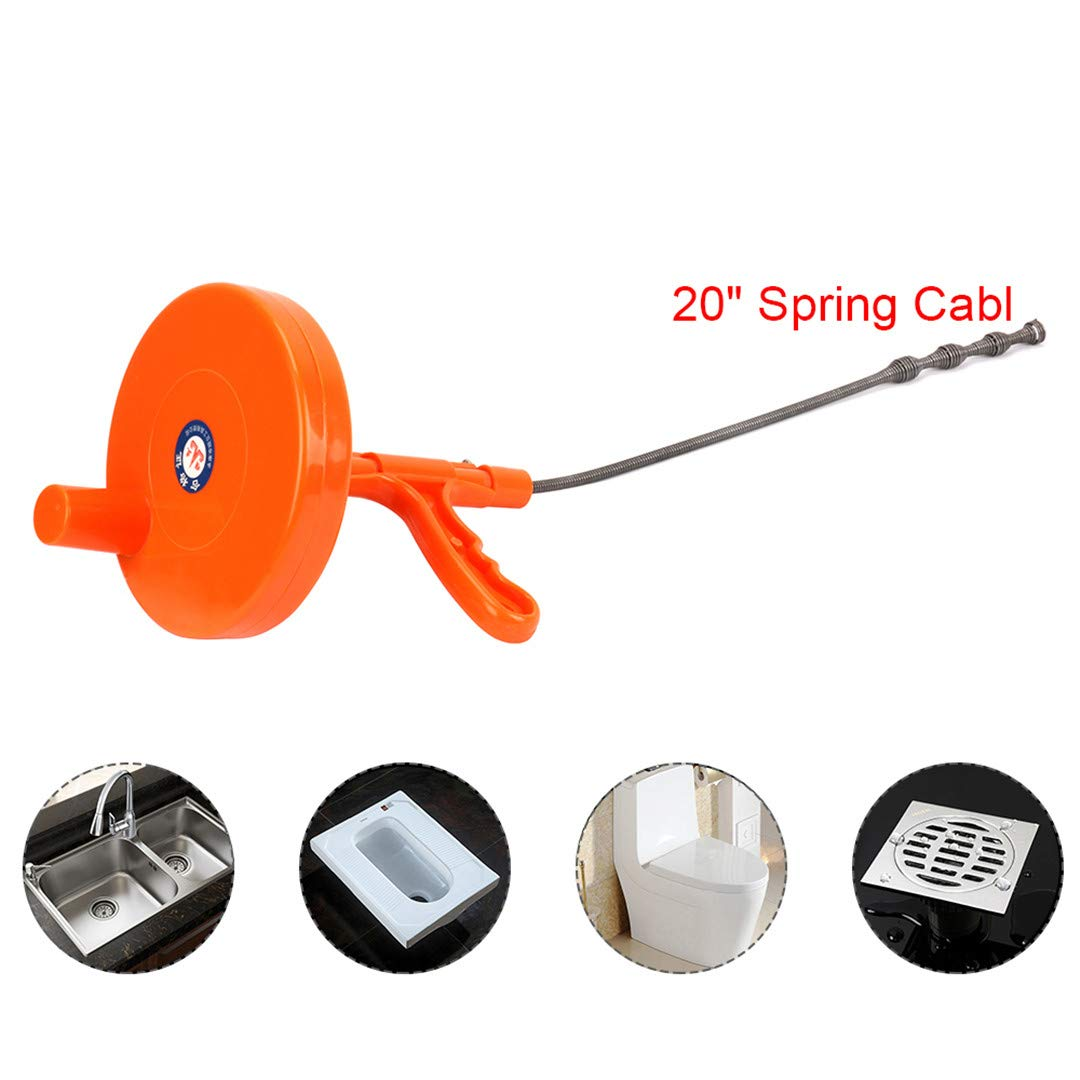 Kitchen Toilet Sewer Blockage Household Hand Cleaning Tool Bendable Pipe Dredger 5M Drains Dredge Cleaner by EEJISP