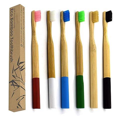 Cepillo De Dientes De Bambú Ecológico con Cerdas De Carbón Activado Ecológico Ecológico Biodegradable Biodegradable Biodegradable