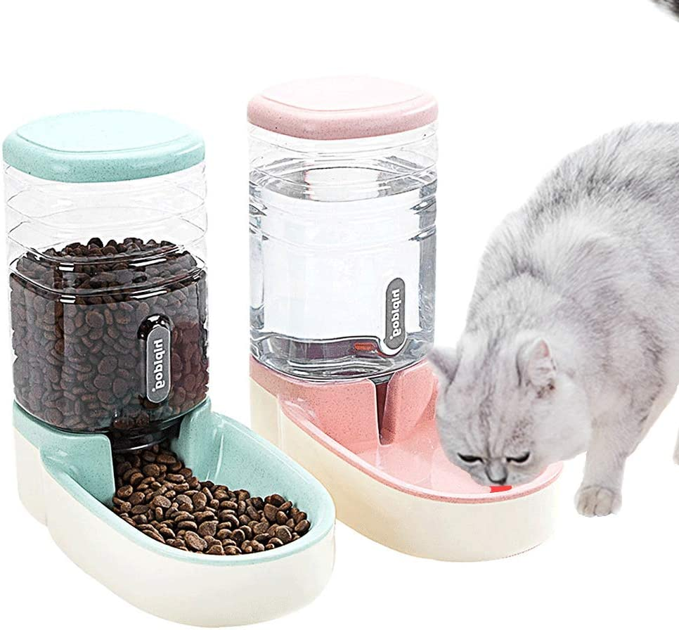 Fairy Tale Automatic Pet Feeder Small&Medium Pets Automatic Food Feeder and Waterer Set 3.8L, Travel Supply Feeder and Water Dispenser for Dogs Cats Pets Animals