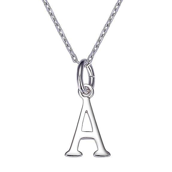 colori armoniosi boutique outlet nuovi speciali collana con iniziale lettere A per donna in argento 925 personalizzato  regalo per lei VIKI LYNN