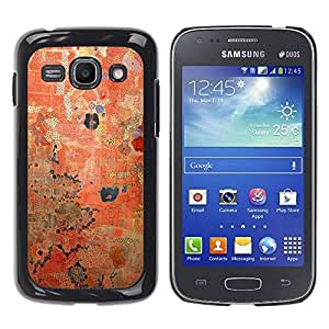 Paccase / SLIM PC / Aliminium Casa Carcasa Funda Case Cover para - Rustic Red Worn Paint Pattern - Samsung Galaxy Ace 3 GT-S7270 GT-S7275 GT-S7272