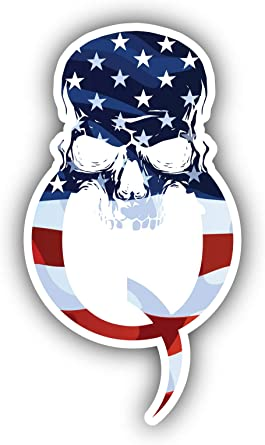 Amazon Com Q Qanon Skull Punisher Trump Symbol Usa Flag Vinyl Sticker Car Bumper Decal Clothing