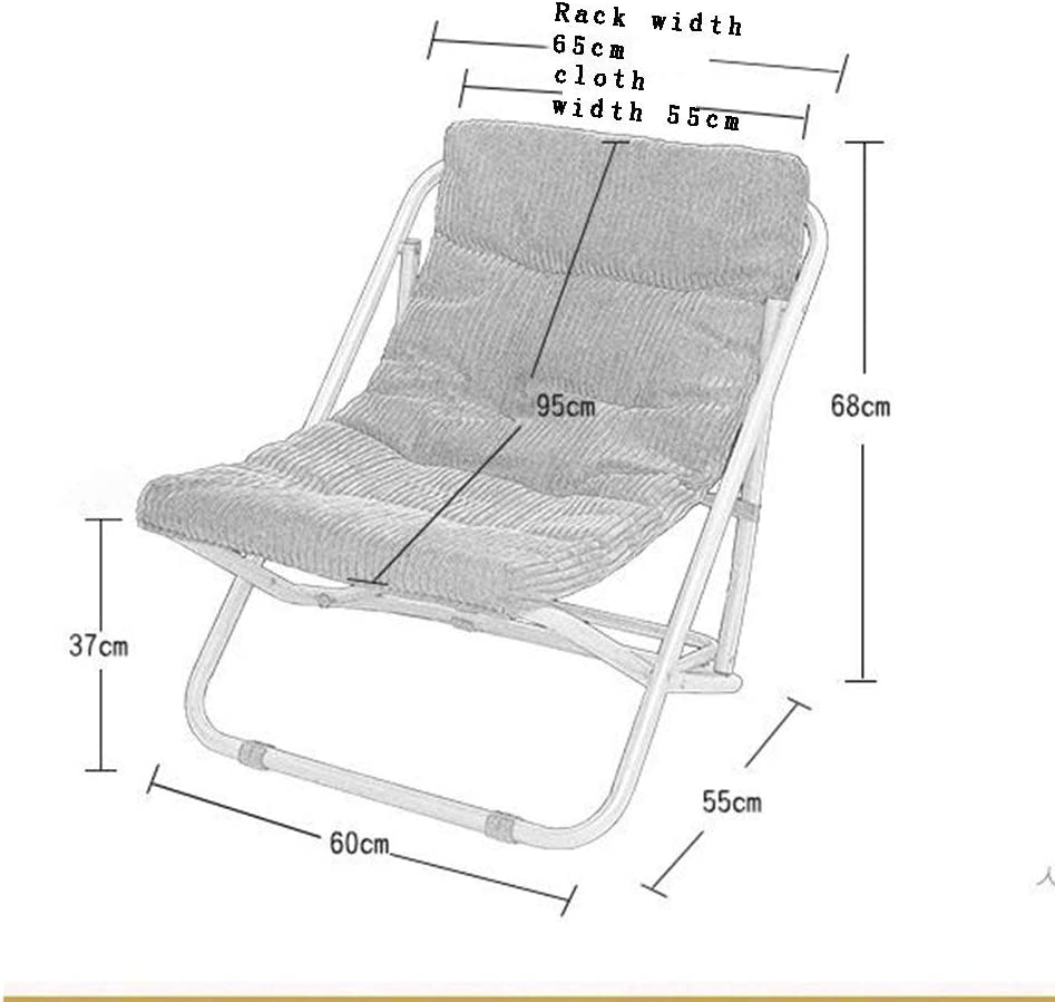 Folding chair Lazy Chair Recliner armchair Sun bed Chair for lunch break Sofa Outdoor chair (Color: C) B
