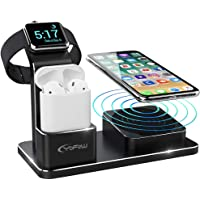 YoFeW Wireless Charging Stand for Apple Watch / AirPods / iPhone (Black)