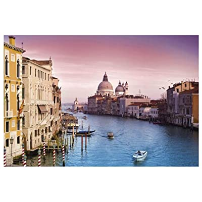 Geyou Water City Landscape Puzzle,Adults Puzzles 1000 Piece Large Puzzle -Water City of Venice, Italy Puzzle, Interesting Personalized Game Toys,Perfect for Group or Family Activity(29.5 x 19.6in): Toys & Games