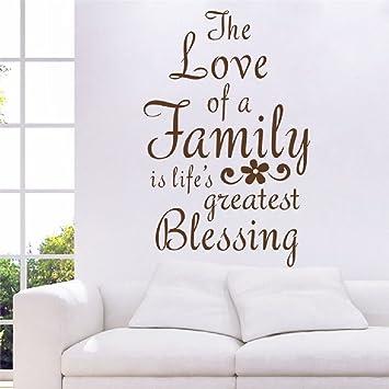 Amazon Com Suyunyuan Diy The Love Of A Family Quotes English Pvc