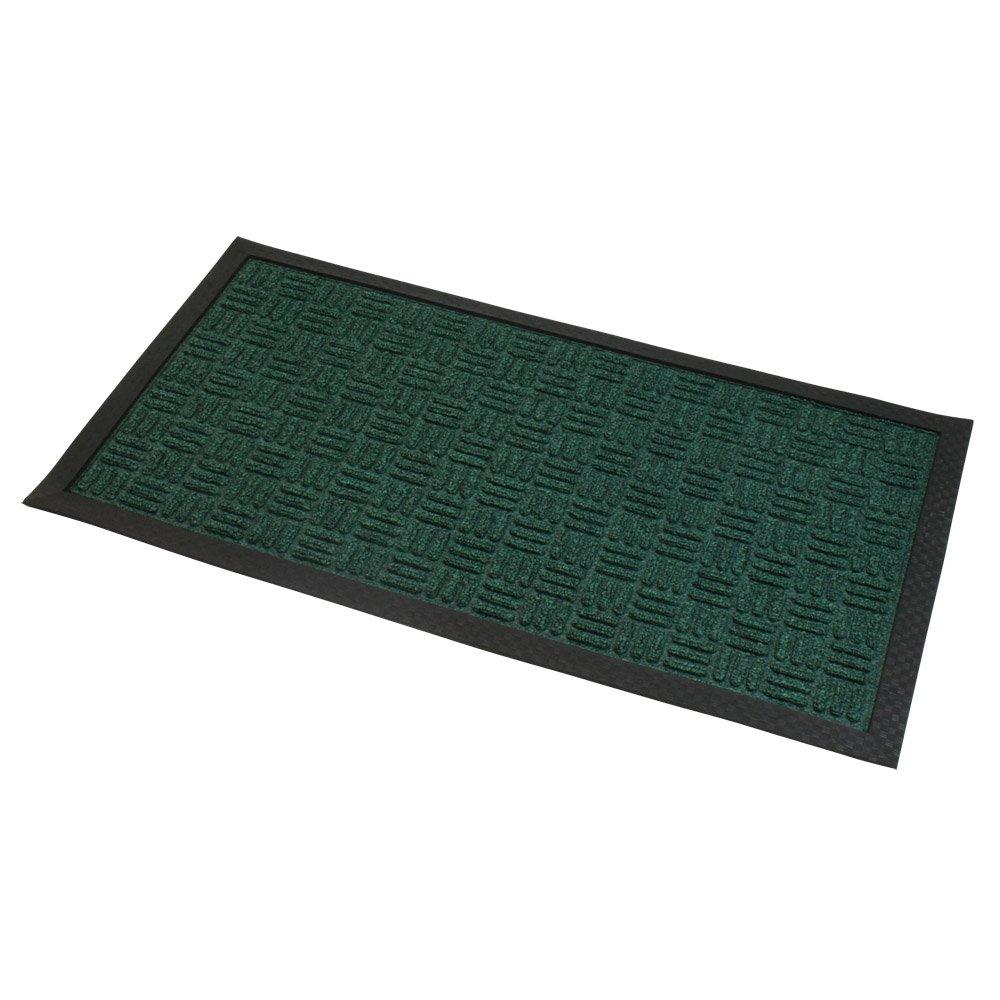 Grey JVL Firth Carpet Rubber Backed Entrance Door Mat 40 x 70 cm Plastic