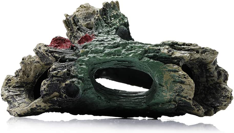 YOUTHINK Aquarium Ornament Resin Wood,Trunk Log Fish Tank Decor with Holes Fish Accessories Hideout Cave Hideaway