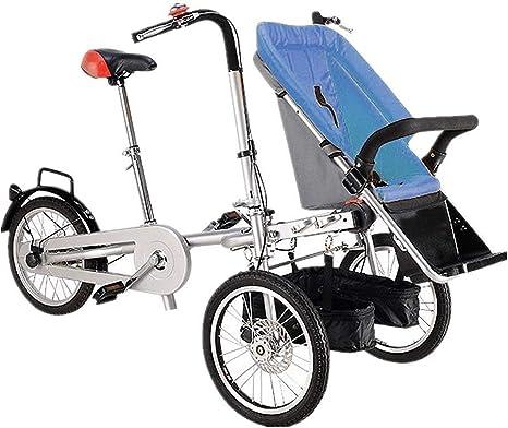 ALOOVOO Bicicleta Similar Madre y bebé Carrito de Bicicleta ...