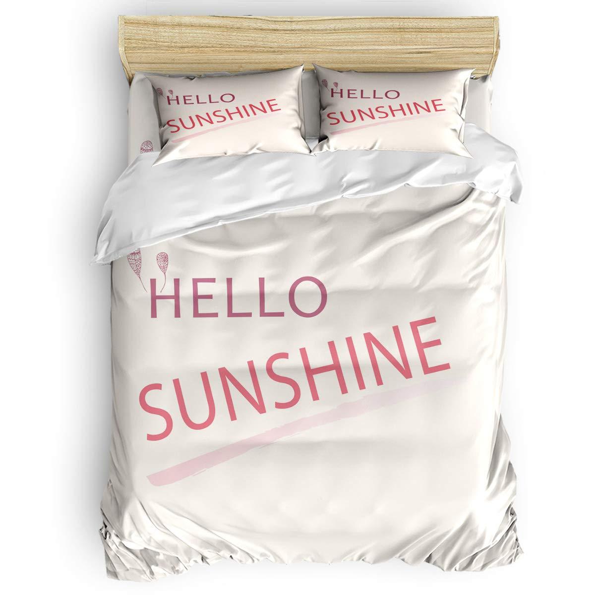 Monroda 寝具 掛け布団カバーセット 4ピース 子供 大人 寝具セット ジッパー開閉 クラシックな大理石の質感 フルサイズ 1111111ZXH-20190212SLEO02765SJTBMOA B07P1RM8B6 Hello35moa7670 フルサイズ