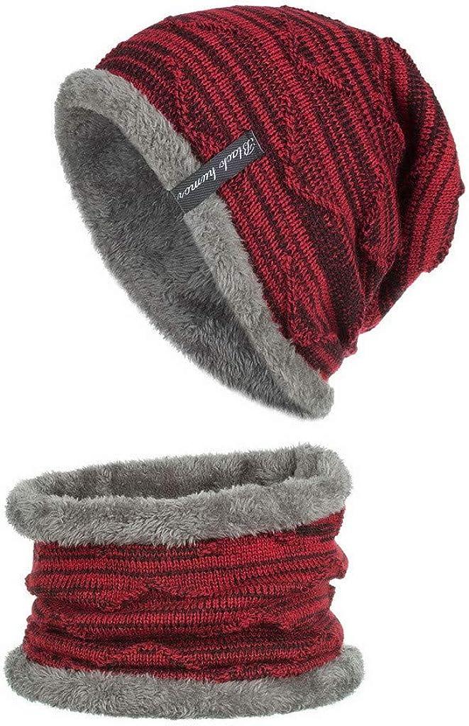 2 Pieces Unisex Knit Cap...