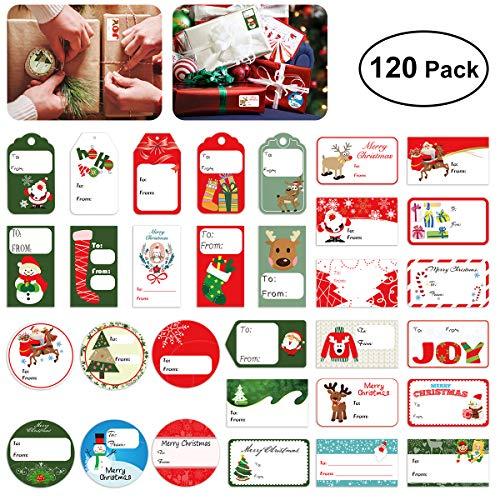 BESTOYARD Adhesivo de Navidad Etiqueta de Regalo Pegatinas Santa Muñeco de Nieve árbol de Navidad Ciervo Festival de...