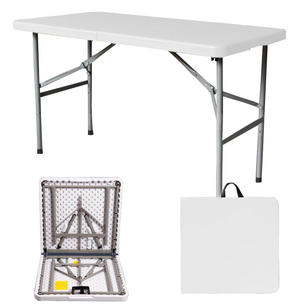 TangMengYun 折りたたみテーブルシンプルな屋外ポータブル長方形テーブル会議テーブルトレーニング活動テーブルホームダイニングテーブル (Color : White, サイズ : 150*71*74CM) B07DQPVGR6  White 150*71*74CM