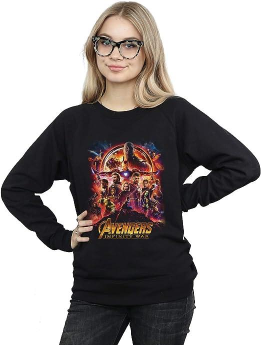 Marvel Mujer Avengers Infinity War Movie Poster Camisa De Entrenamiento: Amazon.es: Ropa y accesorios
