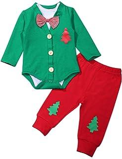Amazon.com: Pijamas de bebé recién nacido, de manga larga ...