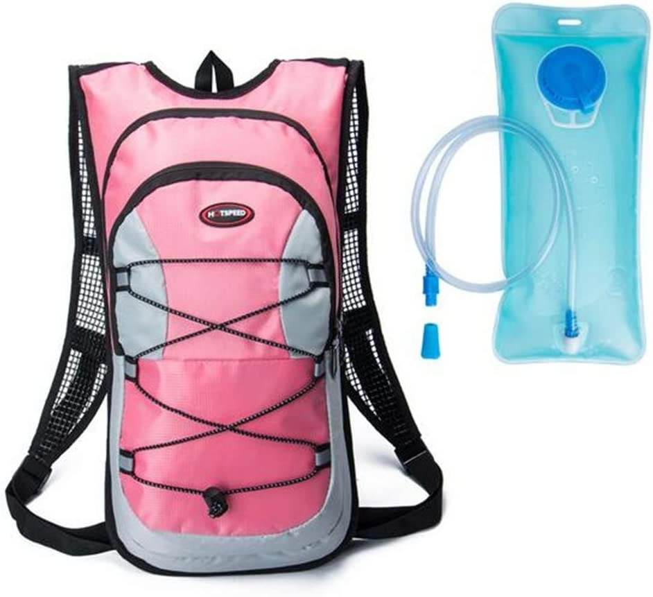 Shimmery Hydration Pack Backpacks with 2.0L Bladder for Hiking, Biking, Running, Walking and Climbing
