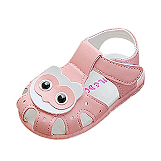 ed5093606c7c6 Amazon.com: LNGRY Baby Sandals, Toddler Kids Baby Girls Cartoon Owls ...