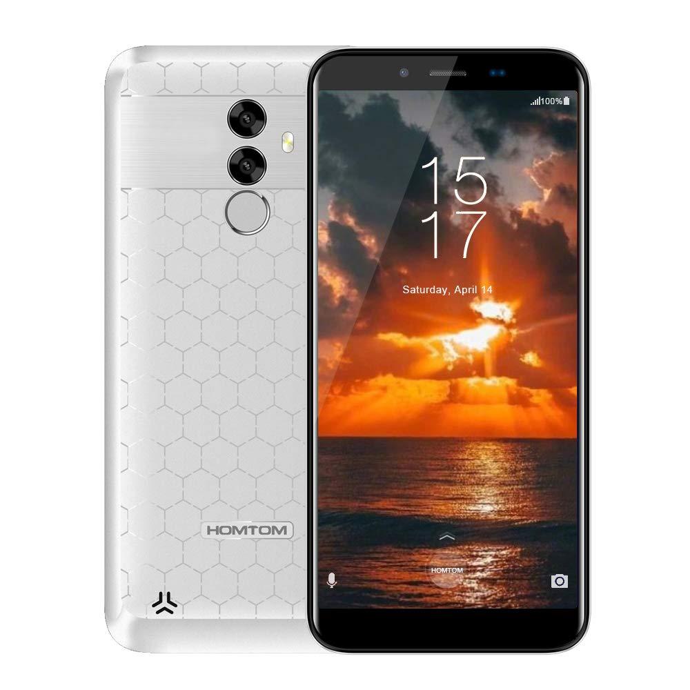 ホームS99フェイスID 6200mAh 4GB 64GBスマートフォン5.5インチベゼルレス18:9 Octacore 21MPデュアルリアカメラAndroid 8.0指紋OTG OTAスマート携帯電話   B07DQPX9FL