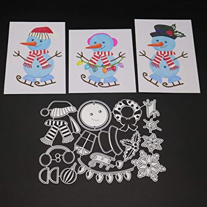 Good Christmas Snowman Baby Metal Cutting Dies Stencils For Diy Scrapbooking Decorative Embossing Suit Paper Card Die Cutting Tool Excellent Quality Electronic Components & Supplies