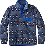 Patagonia Boys' Lightweight Synchilla Snap-T Fleece Pullover (M, Lifecycle/Viking Blue)