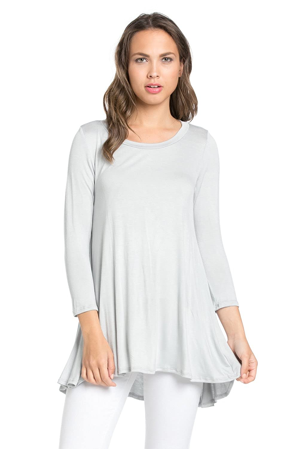 3be6bf8be67 Made in USA This Tunic top for women and girls is perfect for women to wear  leggings. Lightweight soft fabric for a comfortable feminine touch