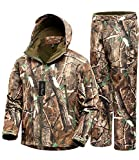 Camo Jacket New View Waterproof Hunting Camouflage Hoodie Military Jacketor and Pants for Unisex Medium