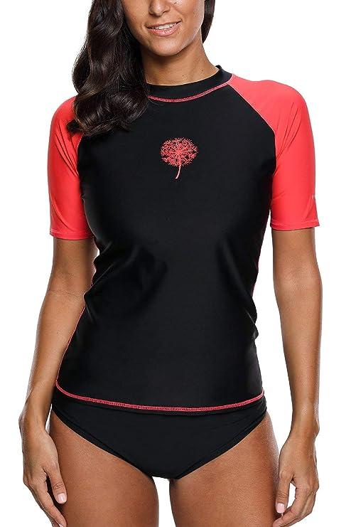 4689759441e85 V FOR CITY Rash Guard for Women Swim Shirts Surf Rashguard UV Lady Bathing  Suit Top
