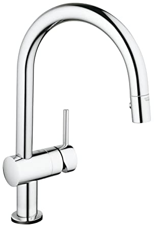 Grohe Robinet De Cuisine Minta Touch Douchette Extractible Starlight