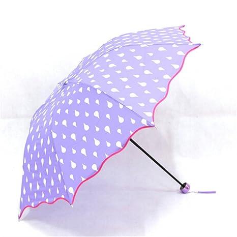 Paraguas de la moda Cambio de color a prueba de viento, Agua Activada Princesa Paraguas