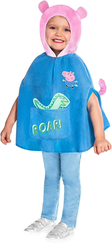Disfraz de George Peppa Pig Disfraz para niños Poncho con Capucha ...