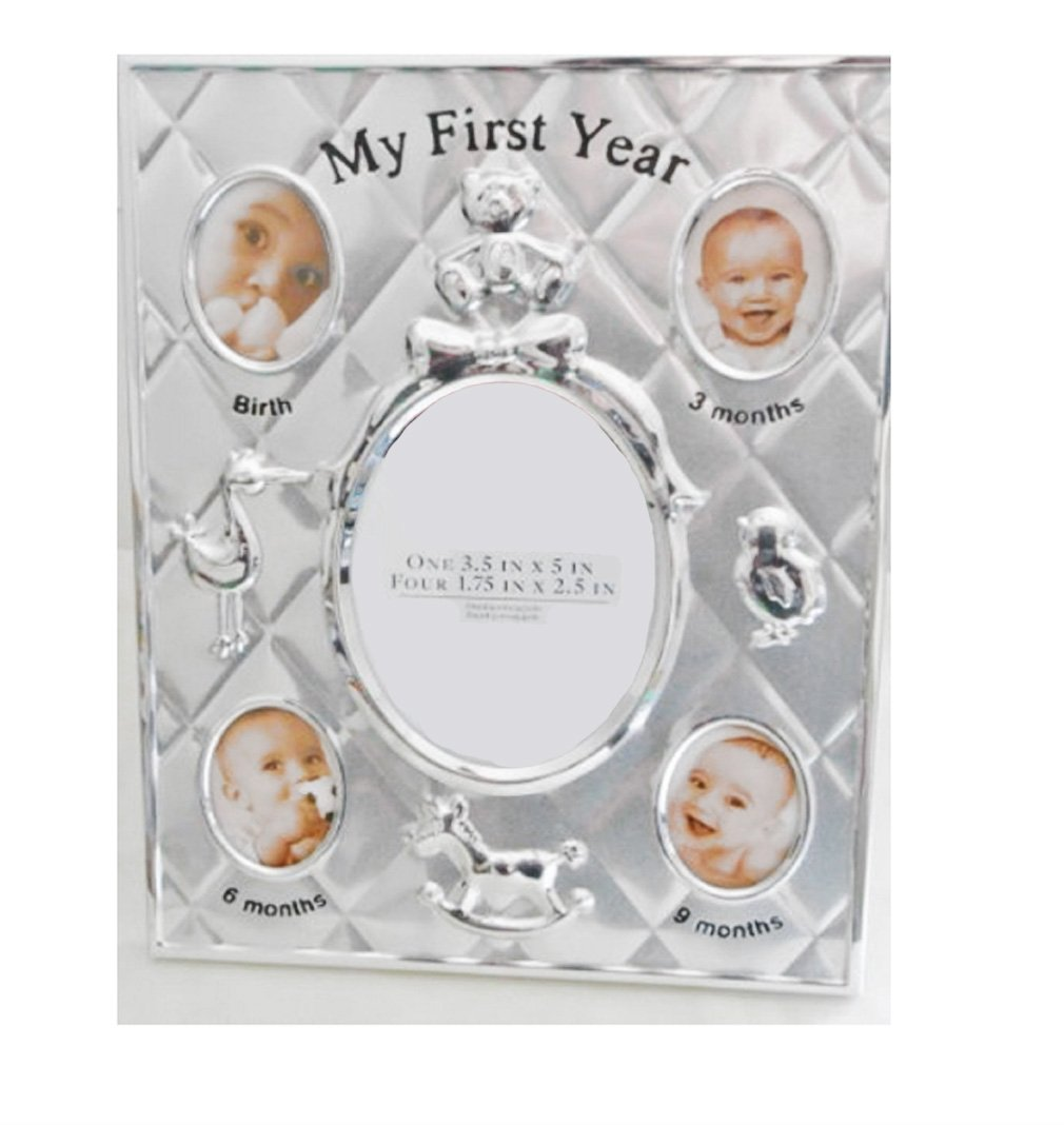 Briarwood My First Year Baby Photo Frame in Silver-tone Briarwood Home Collection RW-KN-3924