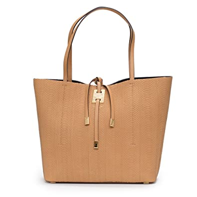 7d56a1768b9e Amazon.com: Michael Kors Collection Miranda Peanut Tan Large East West Tote  Snake Leather Bag Handbag New: Shoes