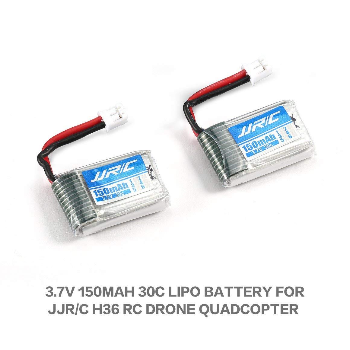 Amazon.es: Funnyrunstore 2pcs Original 3.7V 150mAh 30C batería ...