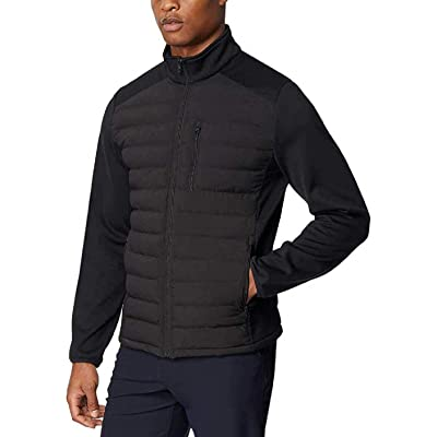 32 DEGREES Men's Mixed Media Jacket (Black, Small) at Amazon Men's Clothing store
