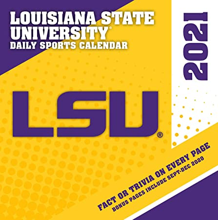 Amazon.: TURNER SPORTS LSU Tigers 2021 Box Calendar