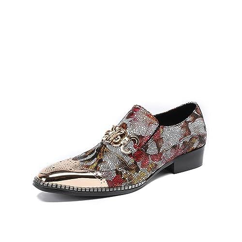 871bb31312 Peluquería Zapatos de Cuero para Hombre Zapatos Casuales Zapatos de Moda  para Hombres Zapatos Puntiagudos Zapatos