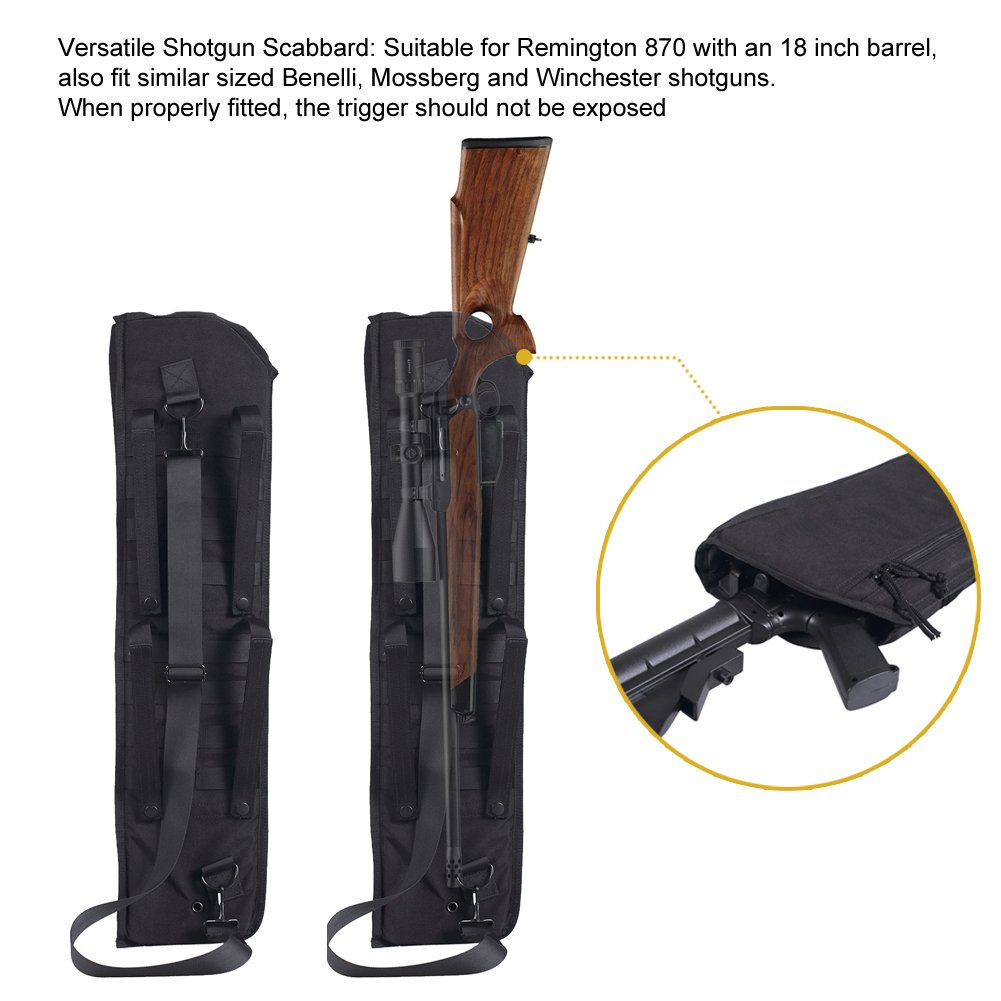 Onetigris Tatical Shotgun Scabbard 29inch Molle Remington 870 Wingmaster Parts List Wallpapers Protective Case W Shoulder Sling Mossberg And Winchester Black Sports
