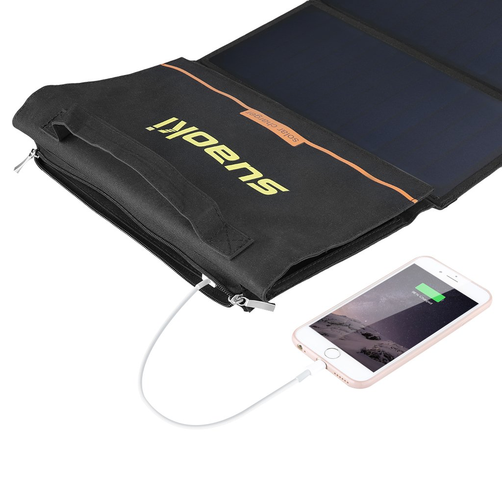 Suaoki 40W Portable Sunpower Mono-crystalline Solar Panel With DC 18V and Usb 5V Output Charger for Laptop Tablet SLR GPS Cellphone Other 5-18V Device by SUAOKI (Image #4)