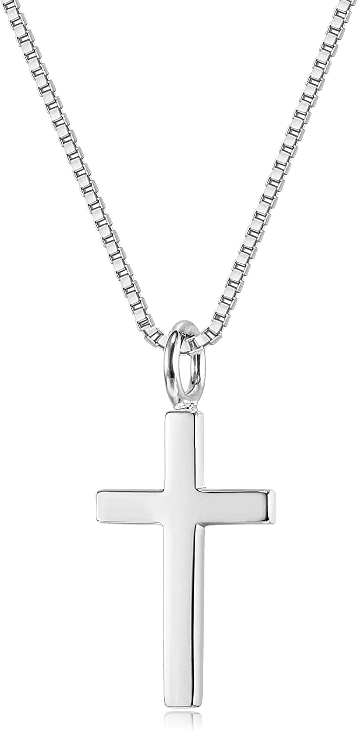 Dainty Sterling Silver Twisted Cross Necklace