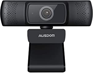 Webcam 1080P Full HD, AUSDOM AF640 Auto Focus Video Camera with Microphone for Skype YouTube Live Streaming, USB Web Plug and Play, Compatible with Mac OS, Android and Windows 10/8/7/ XP